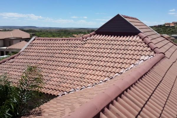 Brown tile roof before