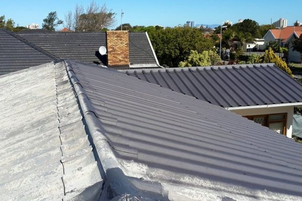 House Roof During Airless Painting