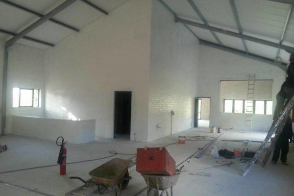 Interior Brick Walls During & After 1